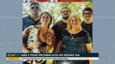 Mãe e filho infectados com a Covid- 19 recebem alta no mesmo dia - Os dois estavam internados na Santa Casa de Paranavaí. Outras 15 pessoas da família também deram positivas para a doença.