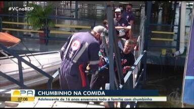Adolescente de 16 anos envenena familiares com Chumbinho em Santarém - As vítimas foram encaminhadas ao hospital municipal e seguem em observação.