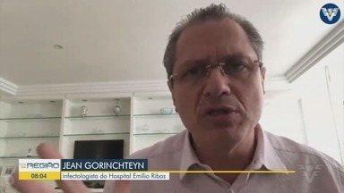 Infectologista fala sobre o isolamento social na região - Segundo Jean Gorinchteyn o percentual precisa subir para poder se pensar na reabertura gradual dos comércios.
