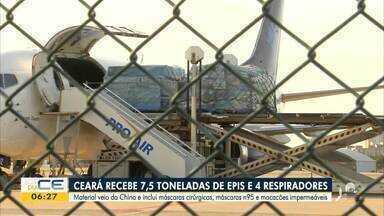 Ceará recebe carregamento de EPIs e respiradores - Saiba mais em g1.com.br/ce