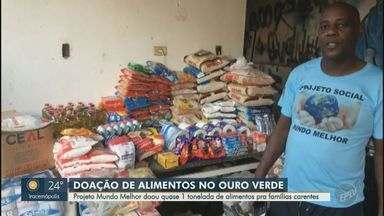 Projeto Mundo Melhor doa quase 1 tonelada de alimentos pra famílias carentes - O grupo junto de jogadores do futebol de várzea de Campinas arrecadaram mantimentos para famílias em situação de vulnerabilidade nesse momento de crise.