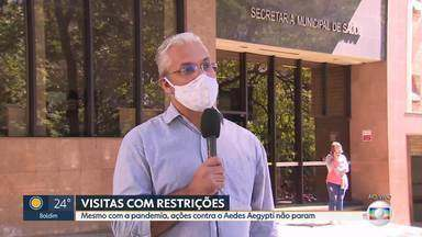 Visita de agentes de combate a endemias passa por mudanças em BH - Pandemia mudou a rotina dos profissionais, mas trabalho não pode parar, principalmente contra a dengue.