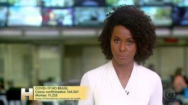 Brasil passa de 11 mil mortes pela Covid-19; mais de 160 mil foram infectados - Do total de casos confirmados, 39,9% se recuperaram.