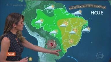 Previsão é de chuva no RS nesta terça-feira - O tempo fica seco no Sudeste. Veja a previsão para todo o país.