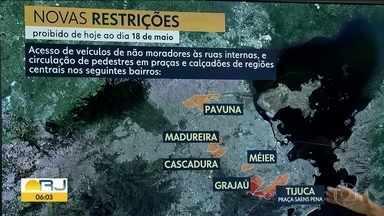 Novas medidas de isolamento social no Rio - Novas medidas de isolamento no Rio com mais restrições à circulação de carros e pessoas . Vivo de Madureira tem as restrições no bairro mas dá um panorama geral das novas regras de isolamento social nas zonas norte e oeste