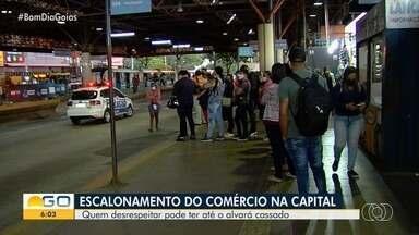 Escalonamento de abertura do comércio deve passar a ser obrigatório em Goiânia - Quem desrespeitar as recomendações pode ser multado.