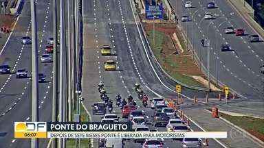 Ponte do Bragueto é liberada - Depois de sete meses de obras a ponte é liberada para os motoristas.