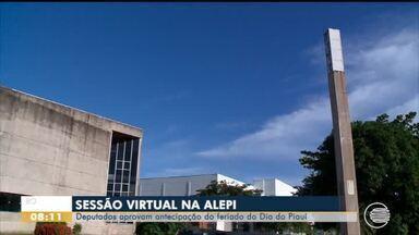 Deputados aprovam antecipação de feriado em sessão virtual - Deputados aprovam antecipação de feriado em sessão virtual