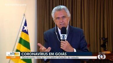 Caiado diz que novo decreto será 'rígido' e visa aumentar o isolamento social em Goiás - Governador revelou que não irá seguir decreto presidencial, que torna academias como 'essenciais'.