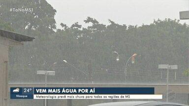 Meteorologia prevê mais chuva para todas as regiões de MS - Dia amanheceu chuvoso em Campo Grande nesta terça-feira (12)
