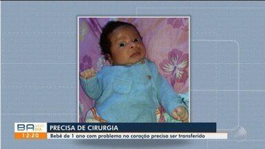 Bebê com problema no coração precisa ser transferido do hospital, no sul do estado - Confira.