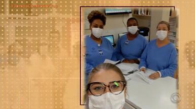 Jornal do Almoço homenageia os enfermeiros que atuam no combate ao coronavírus - Veja a rotina dos profissionais.