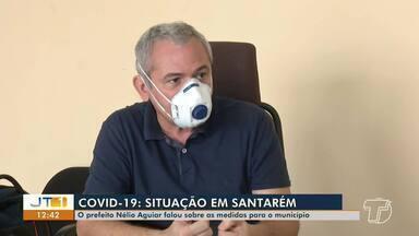 Covid-19 em Santarém: Prefeito Nélio Aguiar fala sobre fechamento de atividades na cidade - Prefeito concorda com o governador Helder Barbalho e atividades permanecem fechadas ou suspensas em Santarém.