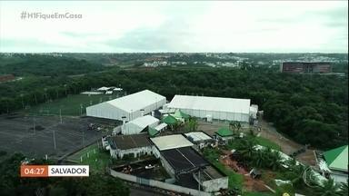 Hospital de campanha é montado em parque aquático desativado na Bahia - São 50 leitos de UTI e quarentena de enfermaria.