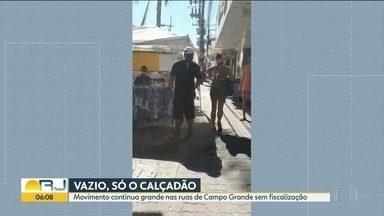 Movimentação em Campo Grande continua grande - Calçadão é bloqueado, mas outros pontos do bairro seguem com aglomerações