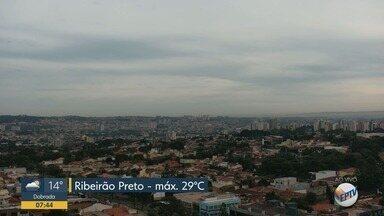 Confira a previsão do tempo para esta quarta-feira (13) em Ribeirão Preto e região - Temperatura deve chegar aos 29º C.