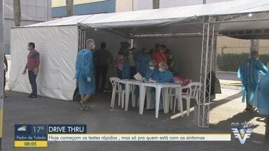 Testes para o novo coronavírus começam a ser aplicados em Santos - Testes são apenas para pessoas que estão com sintomas da doença.