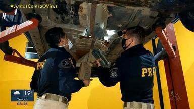 Homem de 31 anos é preso transportando 12 kg de cocaína em Osório - Segunda a PRF, droga estava escondida dentro do carro.