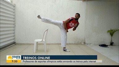 Atletas do taekwondo paraibano improvisam para treinar em tempos de pandemia - Veja como os paraibanos têm se virado para manter a rotina de treinos