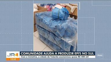 Comunidade ajuda prefeitura de Tubarão na produção de EPIs - Comunidade ajuda prefeitura de Tubarão na produção de EPIs
