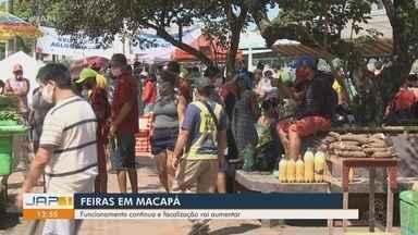 Fiscalização nas feiras de Macapá serão intensificadas para evitar aglomerações - Fiscalização nas feiras de Macapá serão intensificadas para evitar aglomerações