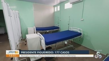 Presidente Figueiredo adquire equipamentos após casos de Covid-19 - Município começa a montar enfermarias.