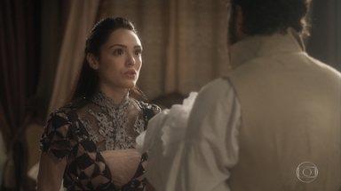 Anna diz a Thomas que vai batizar a filha de Vitória - Thomas finge estar muito interessado na bebê e Anna fica aliviada