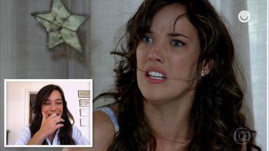 Adriana Birolli assiste e reage às cenas de Patrícia em 'Fina Estampa' - Confira!