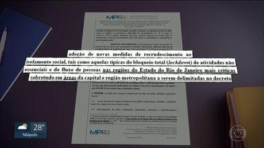 MP recomenda medidas mais severas de isolamento no RJ - Recomendação foi dada tanto para o governo do estado quanto para a prefeitura do Rio.