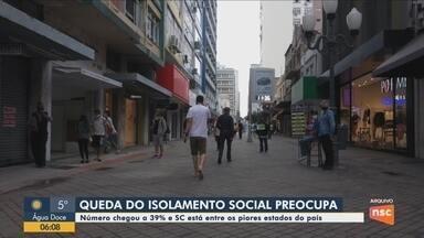 Levantamento aponta que isolamento em Santa Catarina caiu para 39% - Levantamento aponta que isolamento em Santa Catarina caiu para 39%