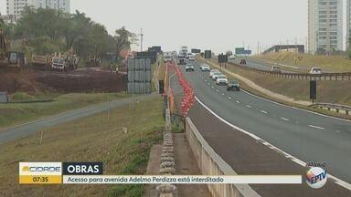 Acesso do Anel Viário Sul à Avenida Adelmo Perdizza é interditado em Ribeirão Preto, SP - Bloqueio fica na altura do quilômetro 317, no sentido Ribeirão Preto/Sertãozinho , e tem duração de 60 dias.