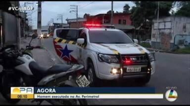Homem é assassinado na avenida Perimetral em Belém - Homem é assassinado na avenida Perimetral em Belém