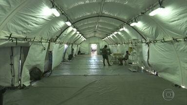 Hospital de campanha de Boa Vista está marcado para ser inaugurado nesta sexta (15) - Problema é que unidade não tem equipamentos e nem profissionais de saúde para atender pacientes com a covid-19