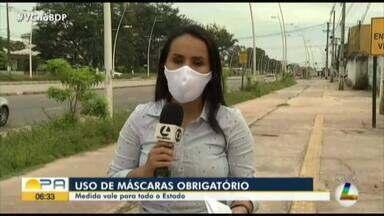 Decreto estadual obriga o uso de máscaras em todo território do Pará - Decreto estadual obriga o uso de máscaras em todo território do Pará