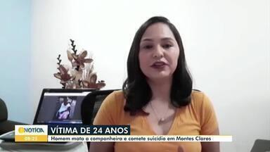 Confira os destaques do G1 desta sexta-feira (15) - Homem mata a companheira e comete suicídio em Montes Claros. Corpo de Maria Dileuza da Silva, de 24 anos, foi encontrado na cama do casal e a suspeita é de que ela foi estrangulada. Segundo a PM, homem se enforcou com uma corda.