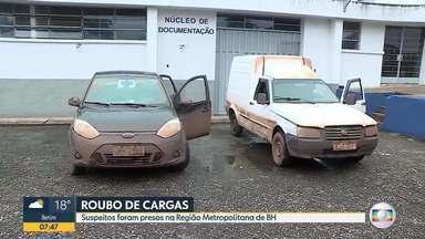 Polícia prende suspeitos de roubar cargas, em Minas Gerais - Prisão aconteceu na BR-040, em Nova Lima, na Grande BH.