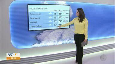 Veja como fica o tempo nesta sexta-feira na região - Há previsão de chuvas para algumas cidades.