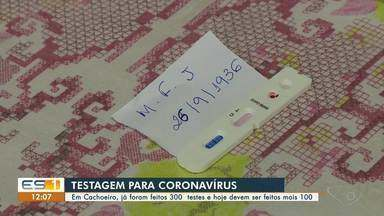 Cachoeiro de Itapemirim já fez 300 testes de coronavírus, no Sul do ES - Mais 100 testes serão feitos no município.