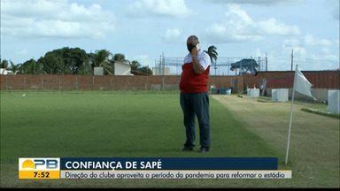 Confiança-PB investe na construção do se estádio e sonha em disputar a 2ª divisão - Presidente do Bicho-Papão, Wilson Nascimento para sobre os projetos do clube