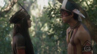 Piatã decide seguir Jacira - Piatã acusa a índia de esconder um segredo. Ferdinando decide procurar a planta sozinho