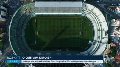 """Torcidas devem ficar longe dos estádios por um bom tempo - Esporte é o tema desta sexta-feira (15) na série de reportagens """"O que vem depois?""""."""
