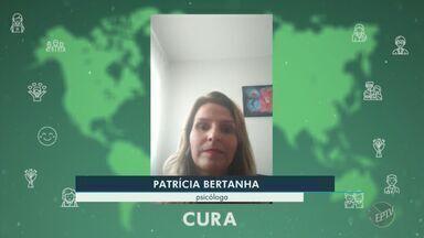 Covid-19: confirma mensagem de cura de psicóloga - Patrícia Bertanha fala sobre as dificuldades da doença e pede que as pessoas fiquem em casa.