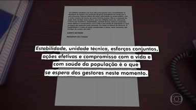 Políticos, entidades médicas e sociedade civil reagem à saída de mais um ministro da Saúde - Nova mudança provoca preocupação da comunidade médica e científica no Brasil e no exterior, e críticas contundentes de governadores que enfrentam a escalada de mortes nos estados.