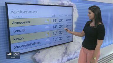 Veja como fica o tempo neste fim de semana na região - Temperaturas não devem passar dos 25°.