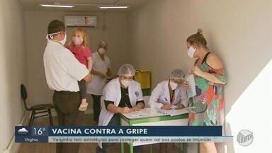 Varginha teve dia de vacinação contra a gripe nos postos - Movimento nas unidades básicas foi fraco