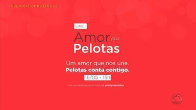 Artistas de Pelotas se reúnem em live para arrecadar doações - Ação solidária será transmitida pela internet; donativos vão ser encaminhados para pessoas em vulnerabilidade social.