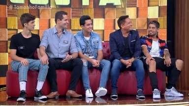 Marcio Garcia recebe Leonardo e Taís Araujo no palco do 'Tamanho Família' - Conheça os familiares que participam neste domingo