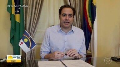 Pernambuco atinge 53% de isolamento no primeiro dia da quarentena - Segundo governador Paulo Câmara, índice foi maior nos cinco municípios atingidos pela medida.