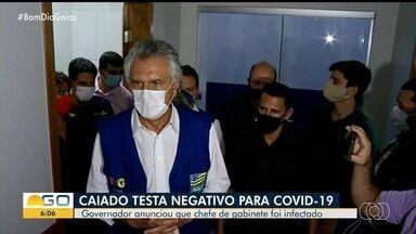 Governador Ronaldo Caiado testa negativo para coronavírus - No entanto, chefe de imprensa foi infectado e está em isolamento.