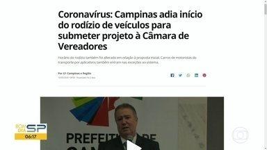 Campinas adia início do rodízio de veículos - Texto será submetido a vereadores.